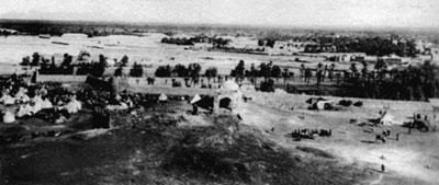 ضواحي المدينة المنورة يرى بينها قبة ثنية الوداع (1907م)