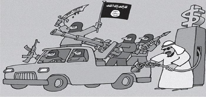 الكاريكاتير الذي نشرته صحيفة «المقال» مع دراسة الباحث «باسم أحمد حسن»