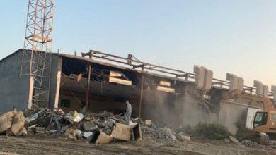 هدم مسجد الامام الحسين بالزارة في العوامية